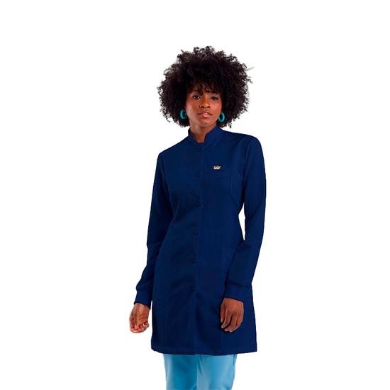 Jaleco Basic Feminino Azul Marinho