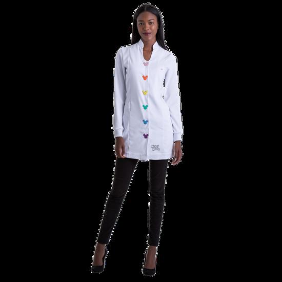 Jaleco Feminino Fashion Button - Branco