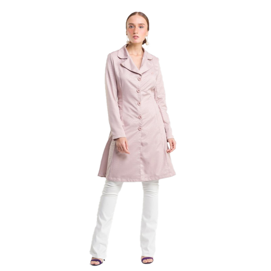 Jaleco Feminino Couture Zebra - Lilás