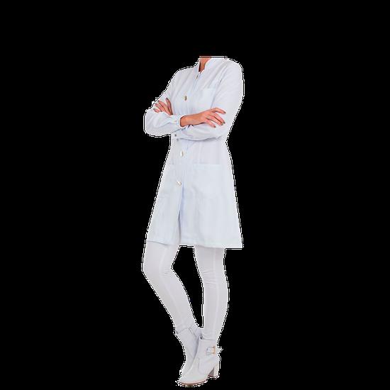 Jaleco Feminino Premium - Gola Padre - Branco