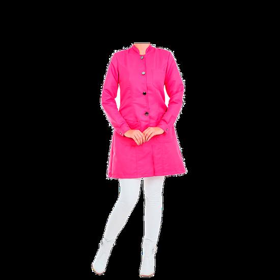 Jaleco Feminino Premium - Gola Padre - Rosa Pink