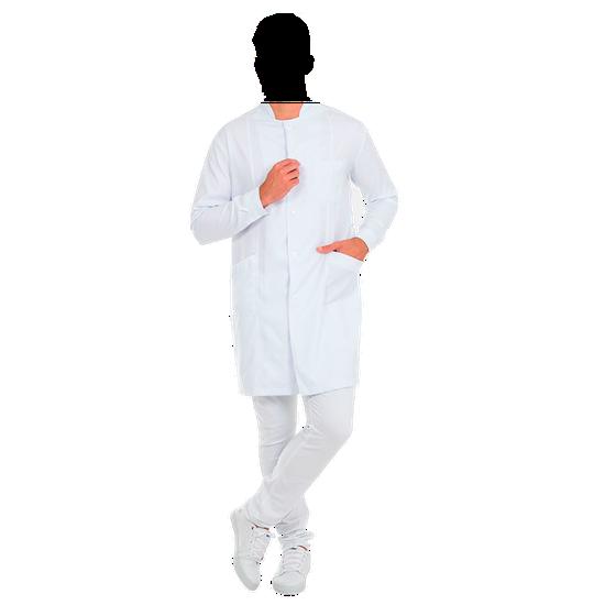 Jaleco Masculino Premium - Gola Padre - Branco - Bordado