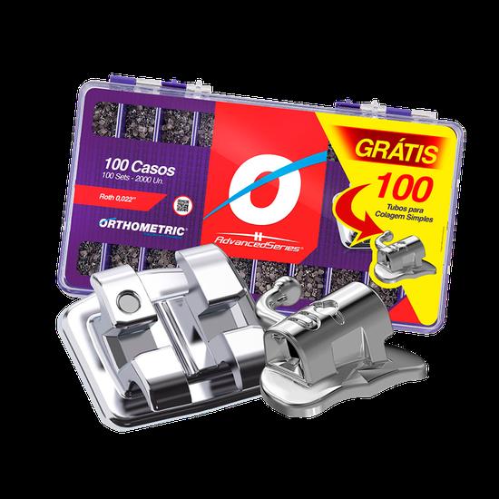 Kit Advanced Roth 0,022 - 100 Casos + 100 Tubos