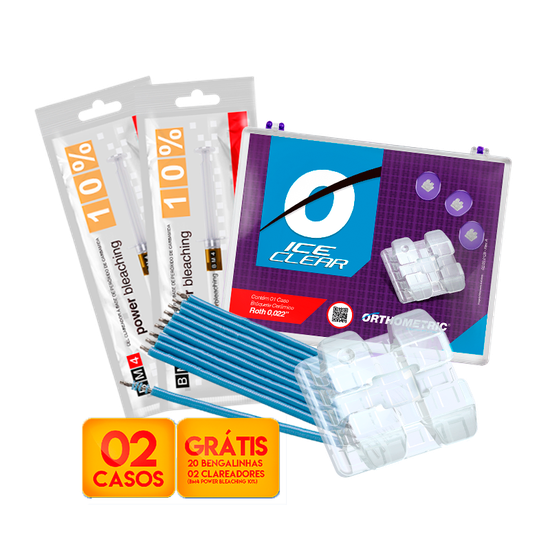 Kit Bráquete Cer Ice Clear Roth 0,022