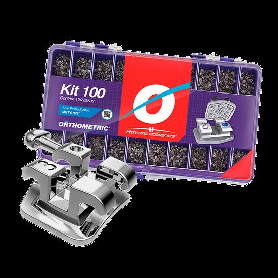Kit Bráquete Metálico Advanced Séries - 100 Casos - MBT 0,022''