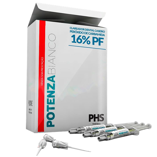 Kit Clareador Potenza Bianco Pf 16% - 3 Seringas