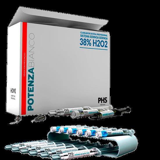 Kit Clareador Potenza Bianco Pro Ss 38% H2O2 On - 6 Seringas
