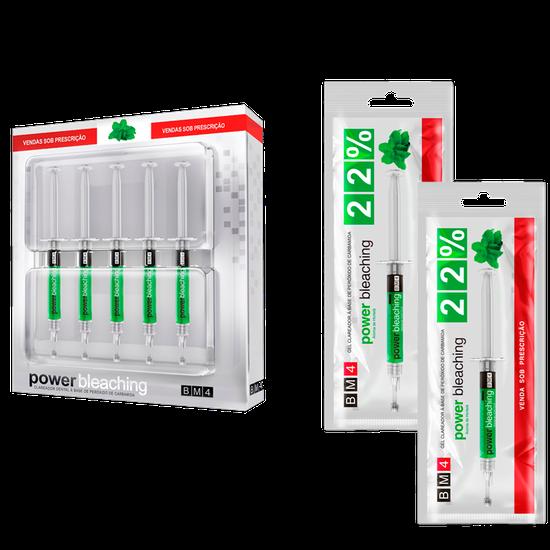 Kit Clareador Power Bleaching 22% - Hortelã + 2 Seringas