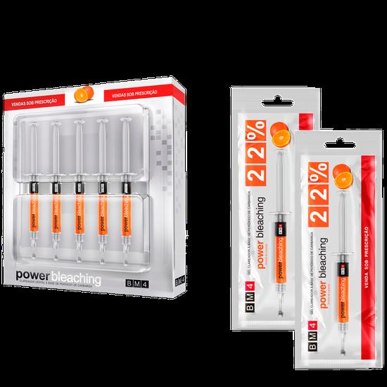 Kit Clareador Power Bleaching 22% - Laranja +  2 Seringas