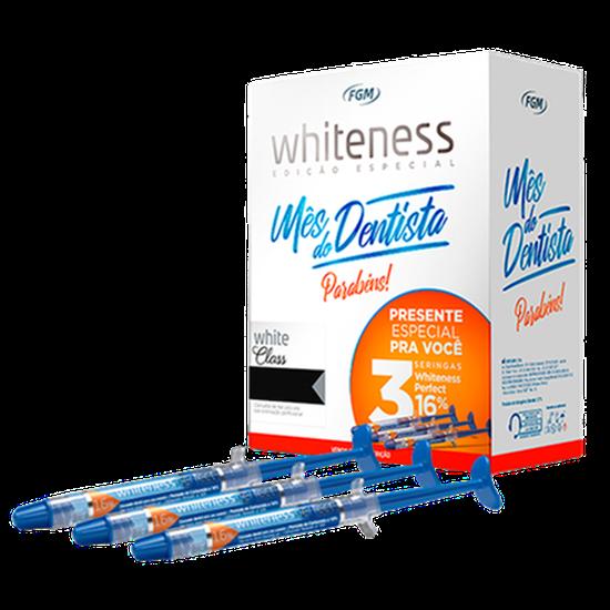 Kit Clareador White Class Calcium 6% + 3 Seringas Perfect 16%