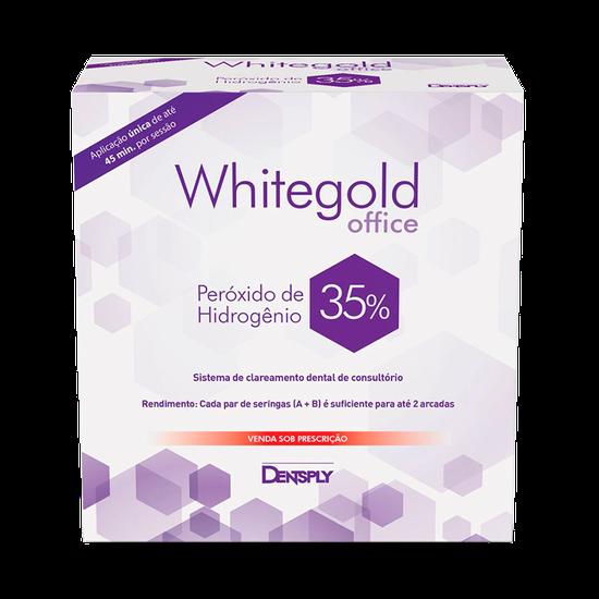 Kit Clareador Whitegold Office 35% - Brinde 02 Seringas 35% + Barreira Gengival