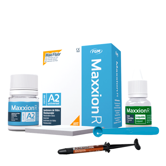 Kit Ionômero de Vidro Maxxion + Allcem Base