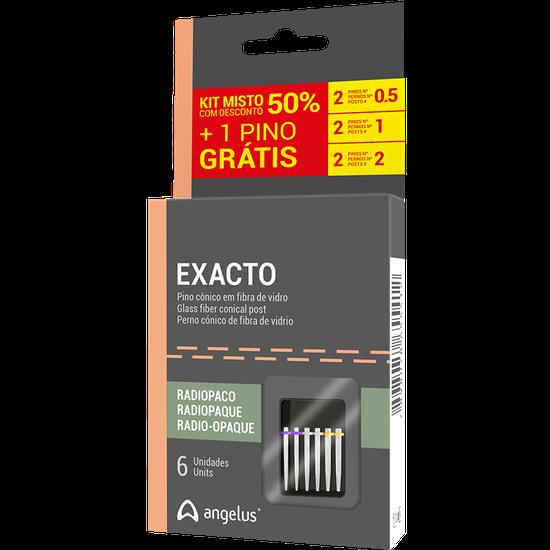 Kit Pino de Fibra de Vidro Exacto - Leve 6 Pague 5 - Sortido