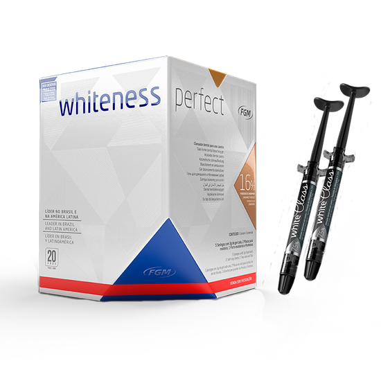 Kit Clareador Whiteness Perfect 16% - Brinde 2 White Class