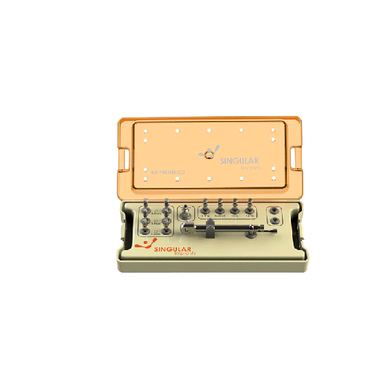 Kit Protético Singular com 12 Unid.+ Estojo - Compatível c/ Universal