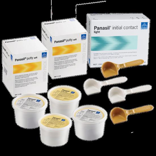 Kit Silicone de Adição Panasil Putty Soft 800ml + 4 Panasil Light