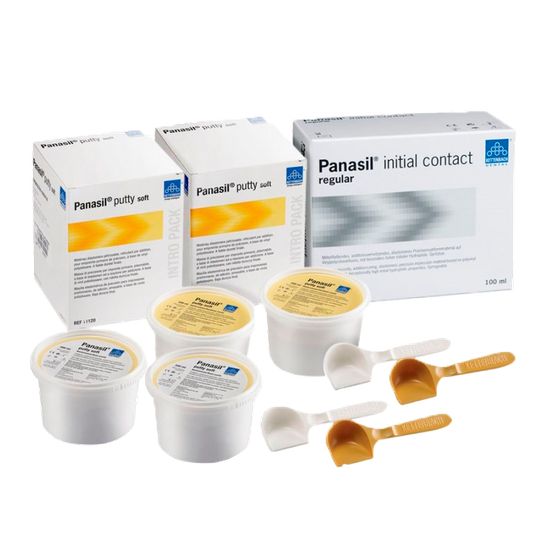 Kit Silicone de Adição Panasil Putty Soft 800ml + 4 Panasil Regular