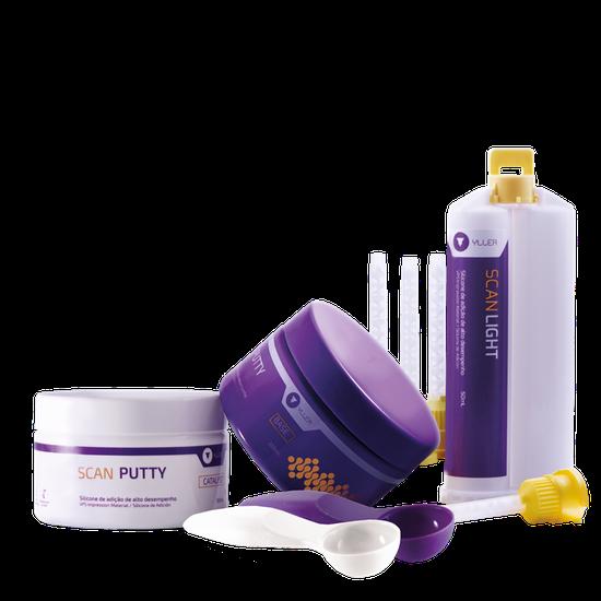 Kit Silicone de Adição Scan Putty + Scan Light 50ml