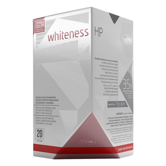 Kit Clareador Whiteness HP 35% c/ Top Dam - 3 Pacientes