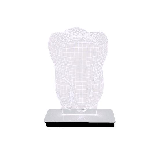 Luminária 3D - Dente