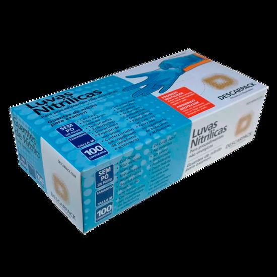 Luva Nitrílica p/ Procedimento sem Pó Azul
