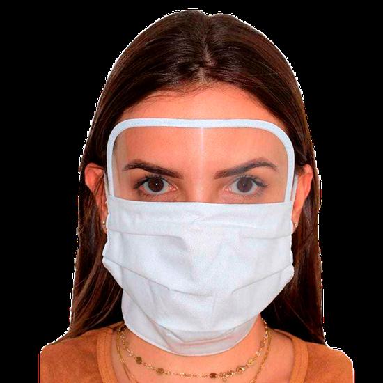 Máscara em Tecido com Viseira