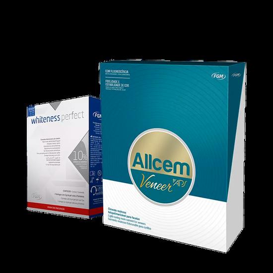 Mini Kit Cimento Allcem Veneer APS + Whiteness Perfect 10%