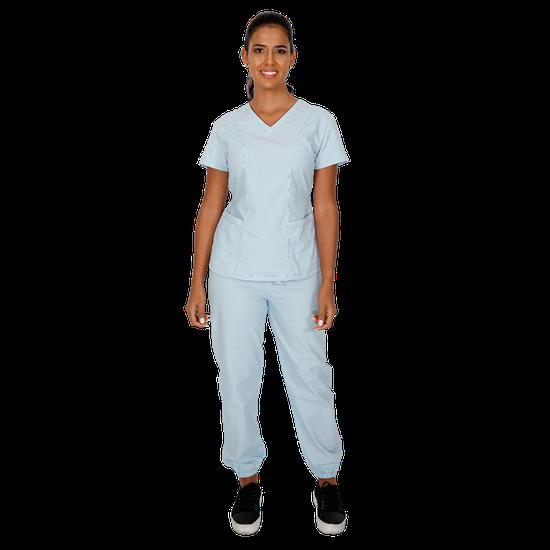 Pijama Cirúrgico Feminino BioSafety Azul