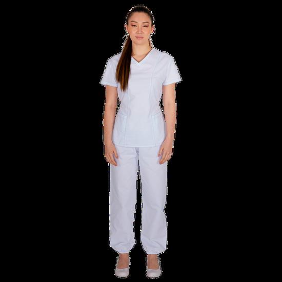 Pijama Cirurgico Feminino Biosafety Branco