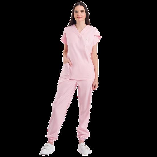 Pijama Cirúrgico Feminino Blush Rosa