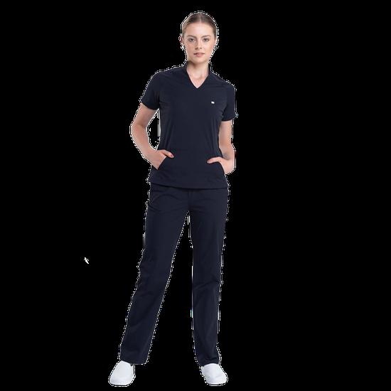 Pijama Cirúrgico Feminino Comfy Black