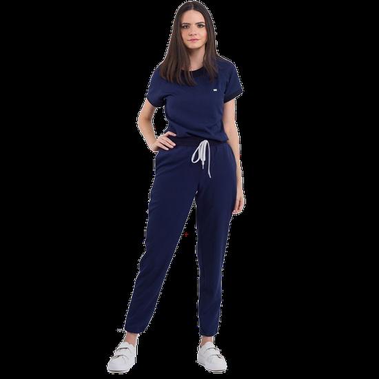 Pijama Cirúrgico Feminino Impulse Azul Marinho
