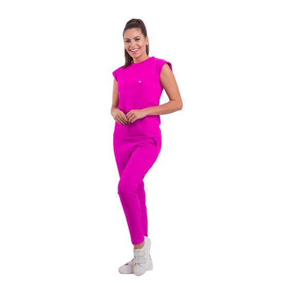 Pijama Cirúrgico Feminino Ohana Pink