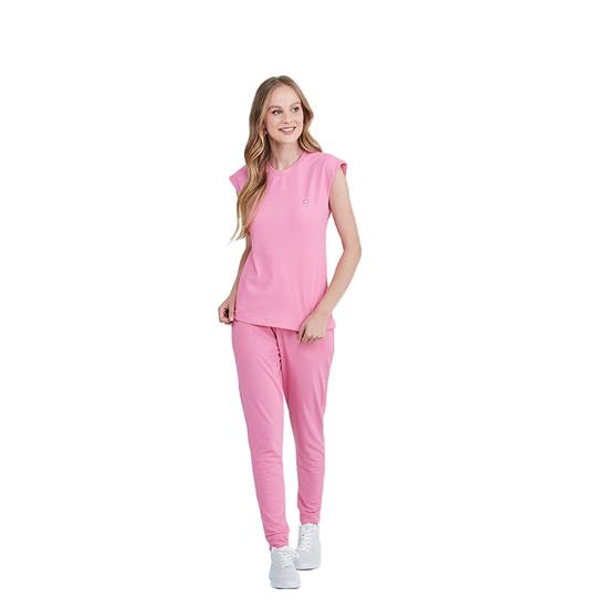 Pijama Cirúrgico Feminino Ohana Rosa Chiclete