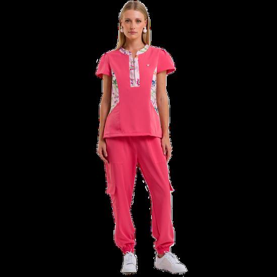 Pijama Cirúrgico Feminino Patrícia by PatBo - Pink Coral