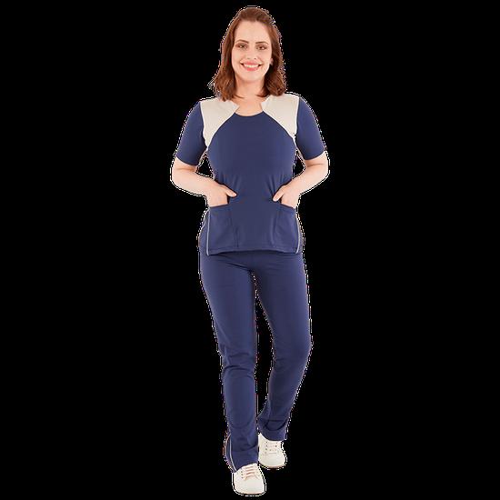 Pijama Cirúrgico Feminino Powerflex Azul Marinho