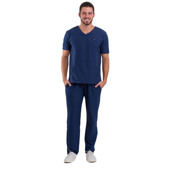 Pijama Cirúrgico Masculino Basic Azul Marinho
