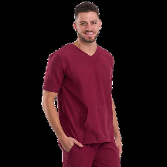 Pijama Cirúrgico Masculino Basic Bordô