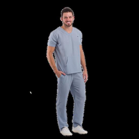 Pijama Cirúrgico Masculino Basic Cinza