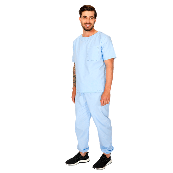 Pijama Cirúrgico Masculino Biosafety Azul - M