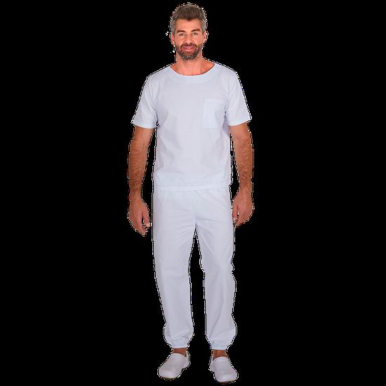 Pijama Cirurgico Masculino Biosafety Branco