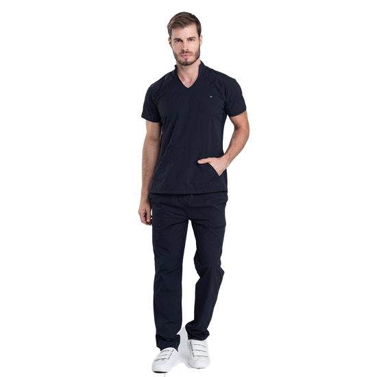 Pijama Cirúrgico Masculino Comfy Black