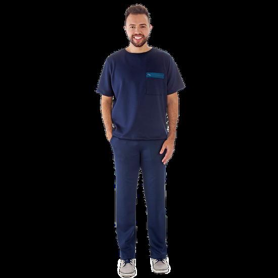 Pijama Cirúrgico Masculino Newprene Azul Marinho