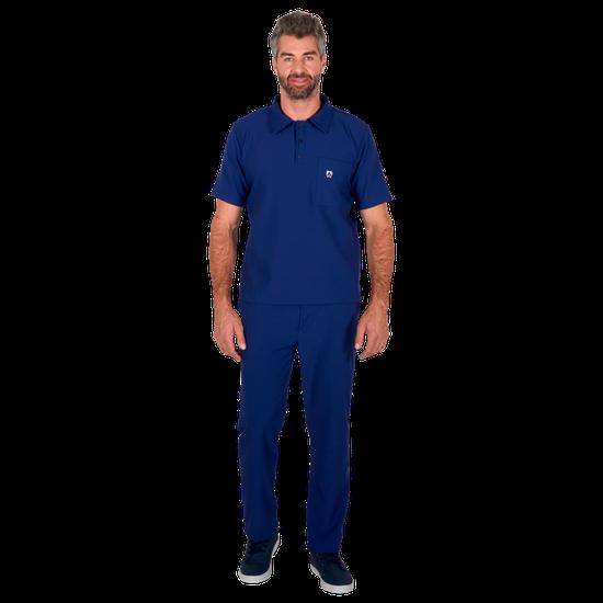 Pijama Cirúrgico Masculino Polo Mr. Kitsch Azul Marinho