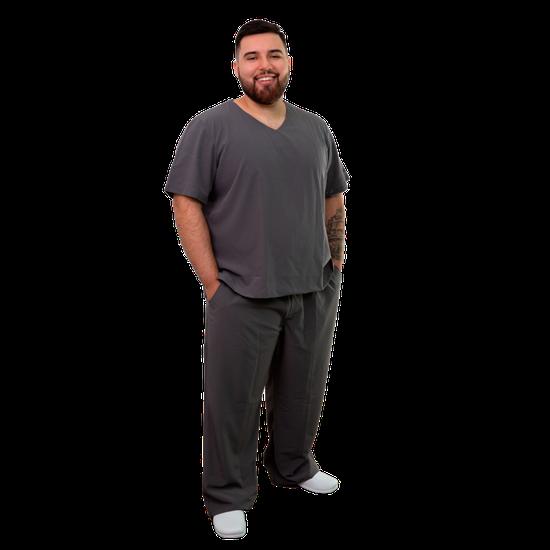 Pijama Cirúrgico Unissex Plus Size - Grafite