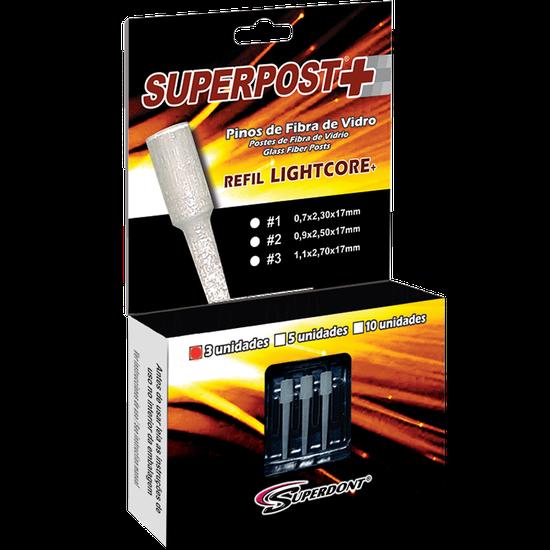 Pino de Fibra de Vidro Superpost+ Lightcore Refil  -  3 Pinos