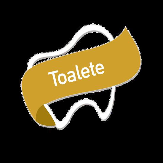 Placa p/ Consultório - Toalete - Encanto