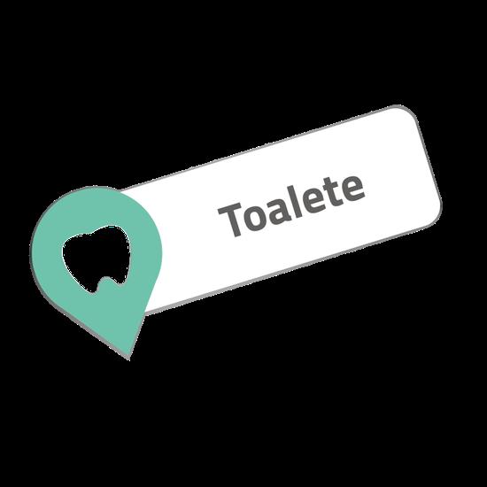 Placa p/ Consultório - Toalete - My Place