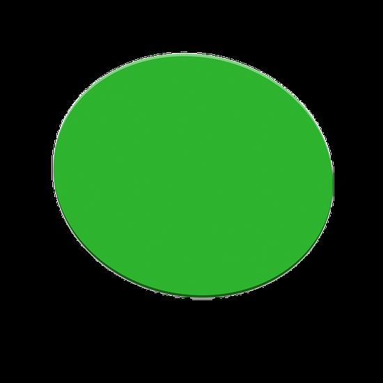 Placa p/ Moldeira Soft 3mm Verde - Redonda