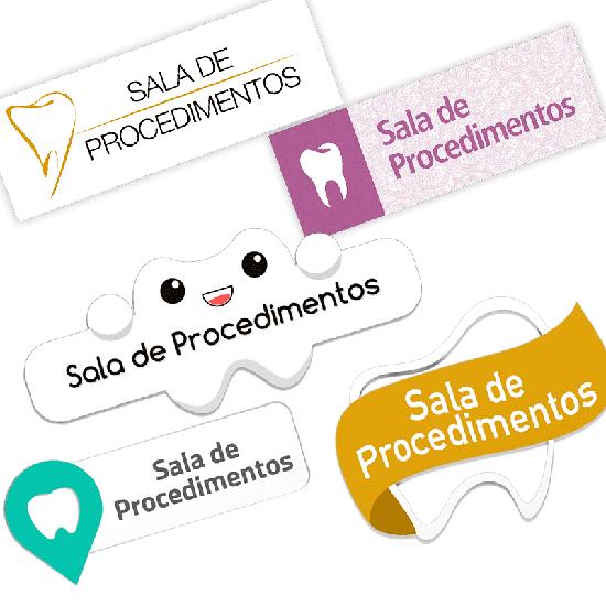 Placa p/ Sala de Procedimento